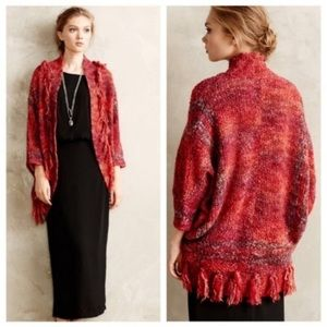 Anthro Sleeping on Snow Boucle Cocoon Cardigan